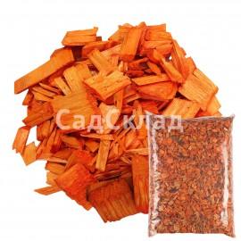 Щепа декоративная оранжевая 6...
